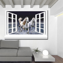 3d effective windows horse Wall Painting pictures Home Decorative Art Picture Paint on Canvas Prints wall painting no framed