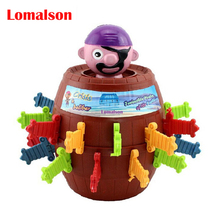 Big Size Children Funny Novelty 24 Swords Pirate Barrel Game Toys Super Interesting Pirate Tricky Toy Piggy Bank(China)