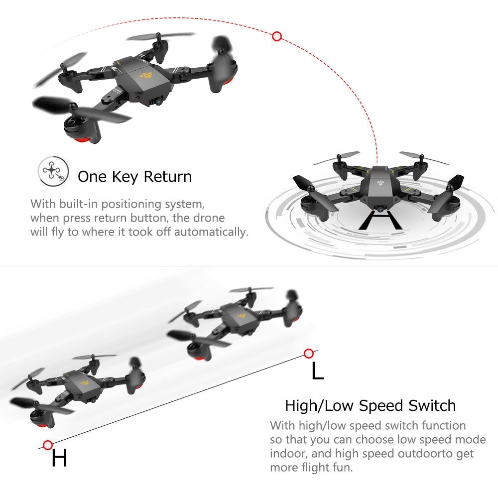 for VISUO XS809HW Wifi FPV 2.0MP 720P 120 FOV Wide Angle HD Camera Drone 2.4G Selfie Drone Height Hold RC Quadcopter Dron RTF (9)