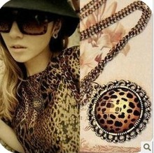 Min. order $9(mix order) 18G Fashion Accessories Vintage Leopard Necklace For Female