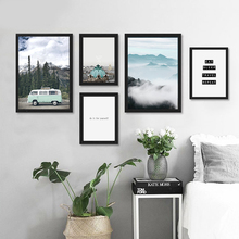Posters And Prints Wall Art Canvas Painting Travel and the Inspirational words Wall Pictures For Living Room Nordic Poster Art P(China)