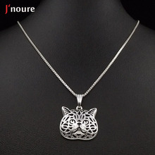 2016 new fashion Exotic Shorthair cat silver pendant and necklace for pet lovers dog animal charm power necklace  A169S