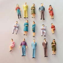 1:50 scale train building people Painted Model Train Passenger People Figures Scale(China)