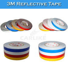 White Yellow Red Blue Color 3M Vinyl Film Reflective Car Sticker Strip(China)