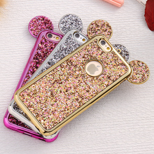 FLOVEME Case For iPhone 6 6S Plus For iPhone 7 8 Plus 5 5S SE Bling Glitter Cover Mouse Cases For iPhone 6 6S Plus iPhone X 10(China)