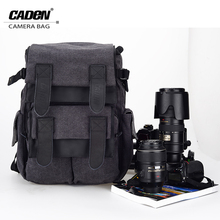 CADeN Camera Backpacks Bag Waterproof Canvas Gray Photo Video Carry Case Bags Digital Camera Box For DSLR Canon Nikon Sony M5