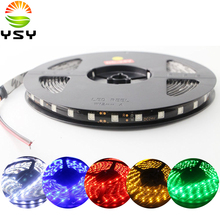 HOT DC 24V Red 5M 5050 SMD 60LED/M 300 LED Waterproof Flexible Light Strip PCB Black For Christmas Decoration Stage Lights(China)