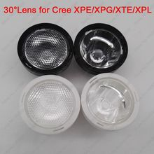 10pcs 20mm Black or White 30 Degree Beaded or Clear Surface LED LENS/Reflector Collimator for CREE XPE / XPG / XTE / XPL LED(China)