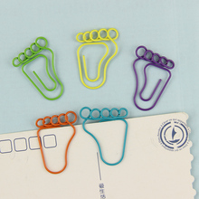 24 PCS/2 Pack Foot Shape Paper Clips Creative Interesting Bookmark Clip Memo Clip Shaped Paper Clips For Office School Home