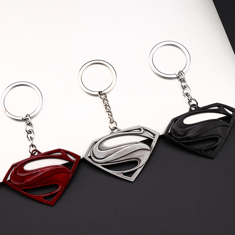 Metal Marvel Avengers Captain America Shield Keychain Spider man Iron man Mask Keychain Toys Hulk Batman Keyring Key Gift Toys (99)