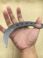 Outdoor Karambit knife Training Knives safety no edge dull blade Knife Stainless steel fixed blade knife(China)