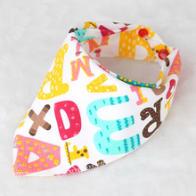 DreamShining Baby Bibs New Cartoon Apron Double Layers Soft Cotton Newborn Burp Cloths Bibs Kids Scarf Bandana Baby Saliva Towel