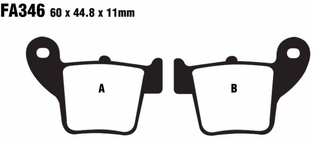 SEMI METAL FRONT BRAKE PADS FOR HONDA CRE 450 X F CRF 450 R 04-08 F
