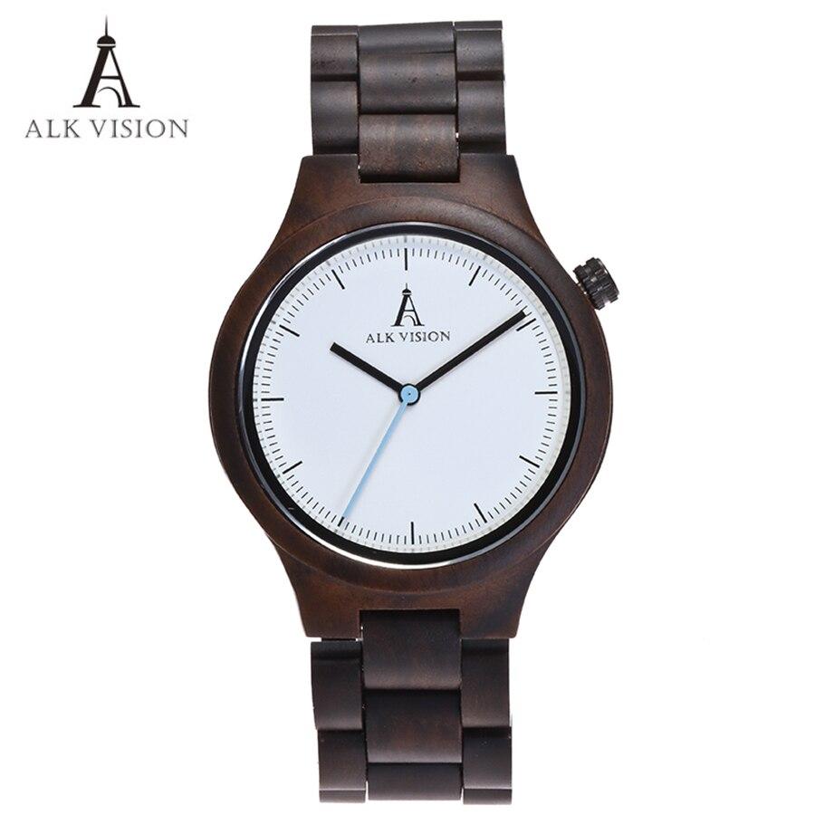 Wood Clock Designer Watches Men High Quality Wooden Watch Eco friendly Ebony Wood Band Watch Quartz Times Mechanism<br>