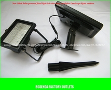 BSOD LED Solar Flood Light Ni-MH 2000mAh Waterproof  3V 2W 30 Lamp Light LandScape Garden Spotlights  Outdoor