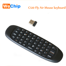C120 Gyroscope Remote Control Wireless mini USB 2.4Ghz for PC Smart TV Android TV Box TV Dongle Keyboard(China)