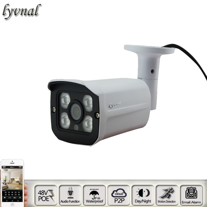 IP Camera POE 48V HT-9317 1080p ip camera Audio waterproof night vision p2p onvif 720p 960p cctv Security camera system <br>