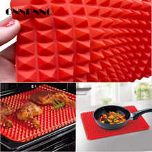 OnnPnnQ Creative Pyramid Silicone Baking Mat Nonstick Pan Pad Cooking Mat Oven Baking Tray Mat Kitchen Tools Bakeware Gadgets