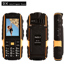 Original NO.1 A9 Outdoor Waterproof Rugged Phone 2.4 inch Highlight Flashlight Power Bank 4800mAh FM Dual SIM GSM Mobile Phone(China)
