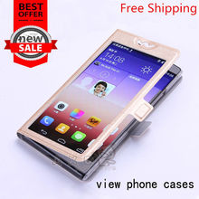 For Huawei Ascend P8 Lite / ALE-L21 Newest View Window High Quality Cover Case Fashion Flip Mobile Phone case For Huawei p8 lite(China)
