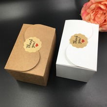 50pcs/lot brown and white Paper Box Wedding Gift Favor Craft Handmade Soap Candy Cookies Package Boxes Free Shipping