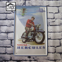 HERCULES Motorcycle for Vintage Poster Plate House Lounge Club 20*30CM Tin Signs Pub Cafe Plaque Bar Shop  Wall Decor