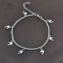 Stainless Steel Chain Anklet Foot Jewelry Ankle Bracelet Anklet-8(China)