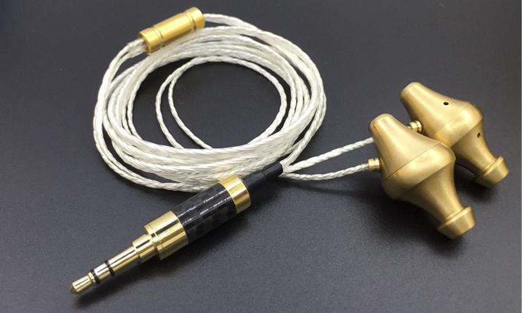 DIY earphone DIY earphone HIFI custom 12 cores Goddess line Deluxe Edition copper chamber pot Gold