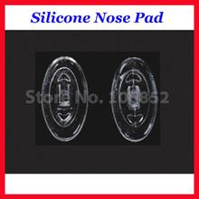 500pieces=250pairs Free Shipping Oval Silicone nose pads size 11mm 12mm 13mm 15mm 16mm screw In Push In(China)