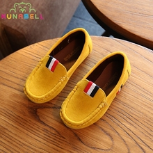 2017 New Spring Boys Children Shoes Kids Boys PU Leather Shoes Kids Moccasin Loafers Toddlers Casual Single Flats Sneakers C301(China)