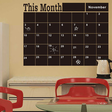 DIY Monthly Chalkboard Chalk Board Blackboard Removable Vinyl Wall Sticker Decor Month Plan Calendar Chalkboard Decal