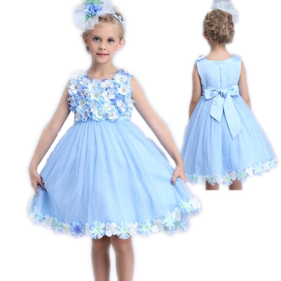 New arrive Summer girls clothes Princess Magic Fairy Dress Kids Flower Wedding Sleeveless dress Princess Party Dresses Girl<br>