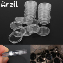 100Pcs/Set 24/26/32mm Clear Coin Capsules Case Coins Holders Specie Container Storage Boxes Organizer Collectibles
