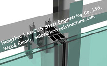 Double Silver Low-E Coating Film Glazed Stick-built System Glass Facade Curtain Wall Office Buildings