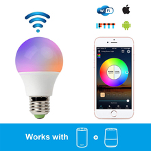 E27 E26 WIFI RGB RGBW LED Bulb 4.5W 6.5W Wifi Smart Multi-Color LED Bulb led Lamps Amazon Alexa Google Home App Remote