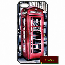 Red Telephone Box London Phone Cases Cover For iPhone 4 4S 5 5S 5C SE 6 6S 7 Plus 4.7 5.5    #SD01973