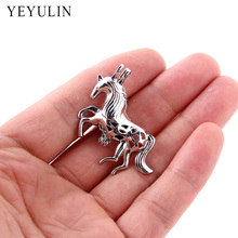 10pcs Aromatherapy Jewelry Pregnancy Horse Cage Pendant Perfume Essential Oil Diffuser Necklace Pendant Jewelry