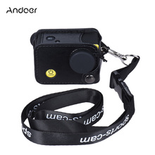 Andoer Clip-on Black Sport Camera Protecive Carrying Case Bag with Neck Lanyard&Lens Cap for Andoer Q3H/Q3 or the Same Size Cam(China)