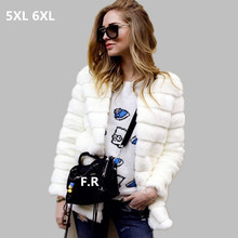 2017 Women Cheap Faux Fur Coat Winter Cheap Mink fur Jacket manteau Female Warm Plus size Overcoat long Soft 5XL 6XL Outwear W69