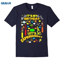 GILDAN Its My Birthday Science Theme Party Shirt Lets Experiment(China)