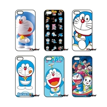 For Samsung Galaxy Note 2 3 4 5 S2 S3 S4 S5 MINI S6 S7 edge Active S8 Plus Cute Cartoon Doraemon Art Poster Mobile Phone Case(China)