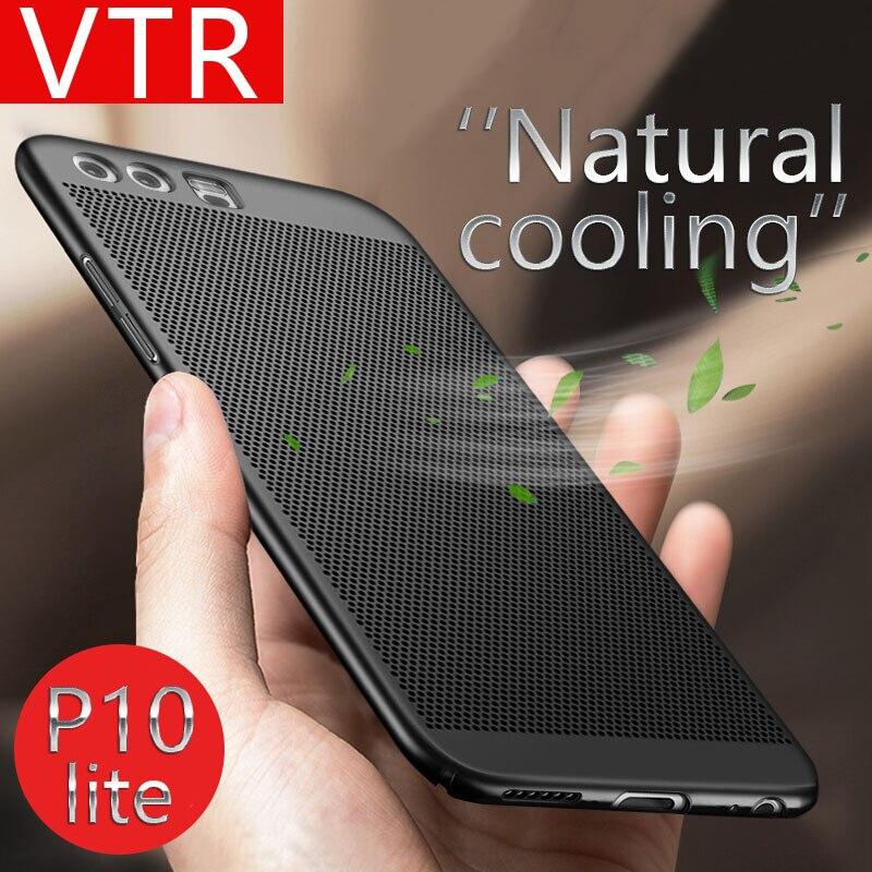 ПК Жесткий чехлы для Huawei P8 Lite 2017 P10 Lite крышка рассеивания тепла противоударный бампер для телефона Huawei P10 P9 Lite телефона Сумка(China)
