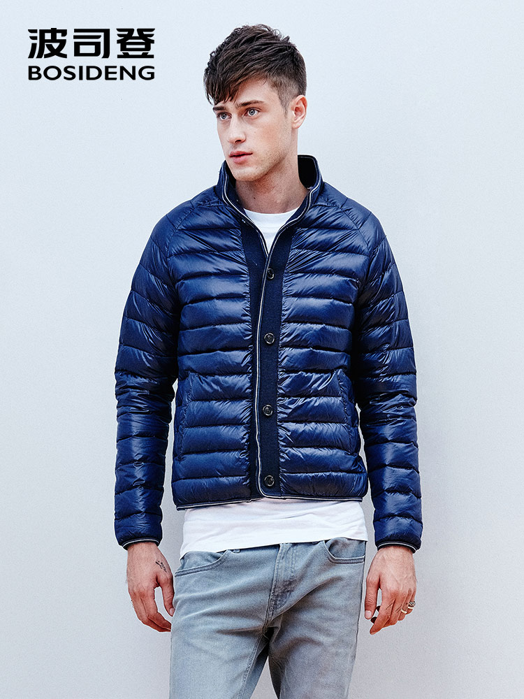 BOSIDENG 90% down jacket for men down coat ultra light stand collar basic top wear clearance B1501033