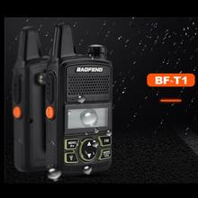 Original BAOFENG BF-T1 MINI Walkie Talkie UHF 400-470mhz Portable Two Way Radio Ham Radio Transceiver Micro USB Interphone