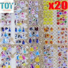 New 20 Sheet Anime Sticker Cartoon Decal for Loptop Message Notebook Fridge Skateboard Scrapbook Book Albums Skin Boy Girl Style