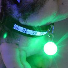 Bright Dog Pet LED Night Safety Flash Light for Collar, Push Button Switch Flashing Pet Dog Collar LED Glowing Collar Accessorie(China)