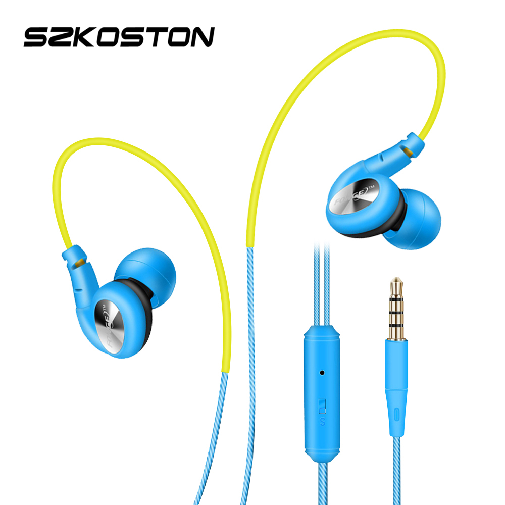 Candy Colored Sports Headphones  In Ear Earphone Stereo Bass Waterproof  Headphone With MIC For Mobile Phones MP3<br><br>Aliexpress