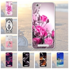 Soft Silicon Cell Phone Cases For ZTE Blade A610 V6 Max BA610 BA610T BA610C A 610 Cover Flower Shell Skin Housing for ZTE A610(China)