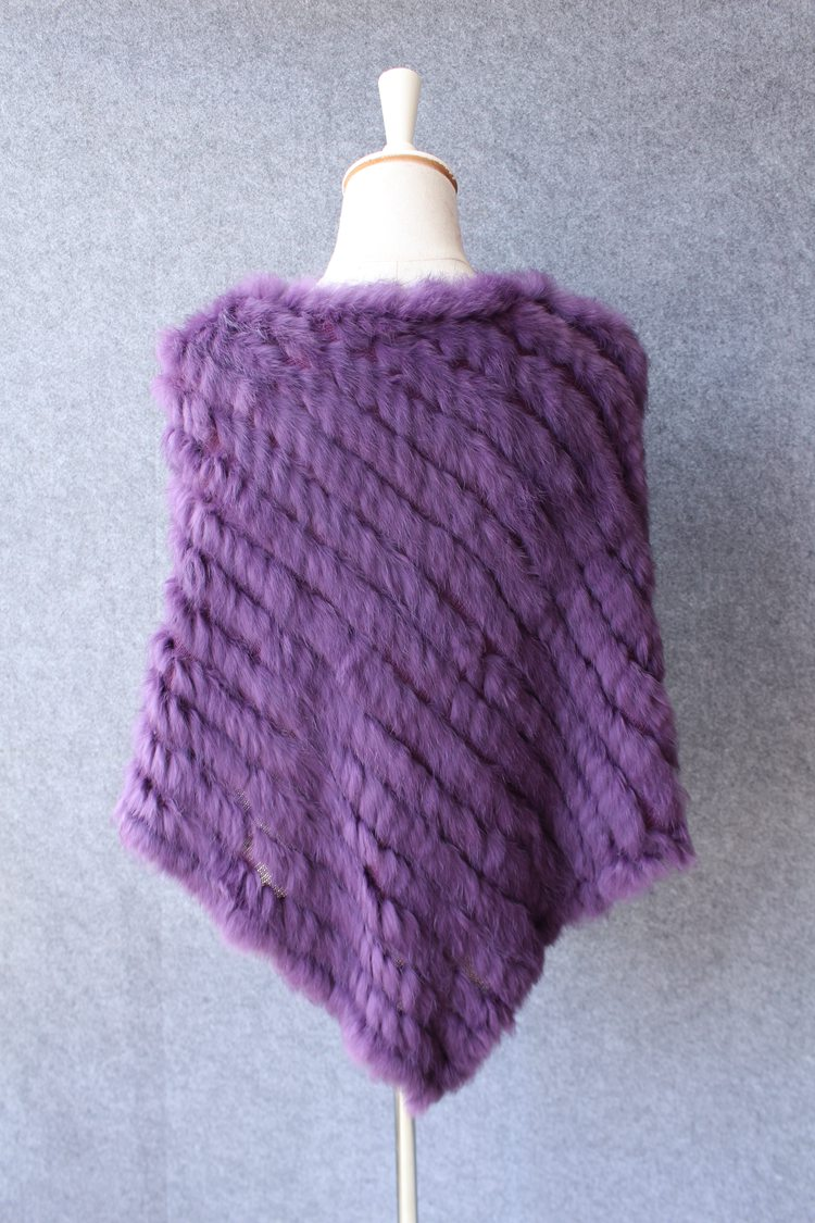 natural knitted rabbit fur scarf wraps (12)