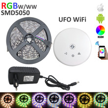 RGBW LED strip DC12V 60LEDs/meter 5m/roll LED strip RGBW / RGBWW flexible led stirp +ufo wifi controller +4A power adapter EU US(China)